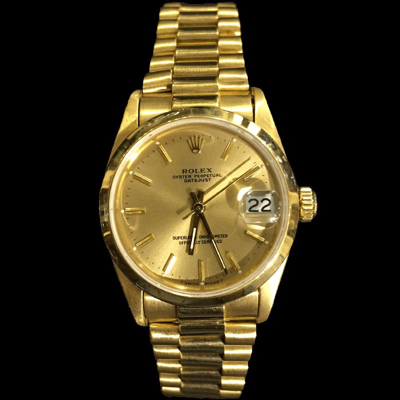 שעון רולקס זהב לאשה